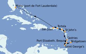 Itinerario de crucero Caribe del Este 11 días a bordo del Silver Spirit