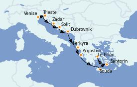 Itinerario de crucero Grecia y Adriático 10 días a bordo del Silver Spirit