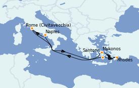 Itinéraire de la croisière Méditerranée 8 jours à bord du Celebrity Edge