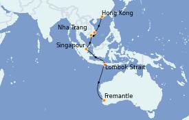 Itinéraire de la croisière Australie 2022 13 jours à bord du Royal Princess