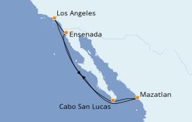Itinéraire de la croisière Riviera Mexicaine 8 jours à bord du Seven Seas Mariner