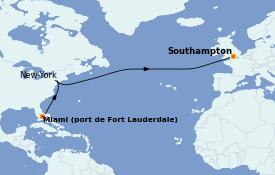 Itinéraire de la croisière Îles Britanniques 11 jours à bord du Queen Mary 2