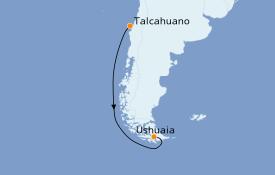 Itinéraire de la croisière Amérique du Sud 6 jours à bord du Le Boréal