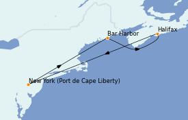Itinéraire de la croisière Canada 6 jours à bord du Adventure of the Seas