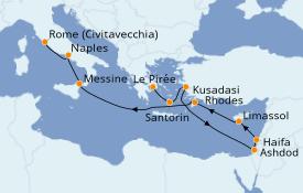 Itinéraire de la croisière Transatlantiques et Grands Voyages 2021 12 jours à bord du Norwegian Getaway