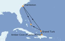 Itinéraire de la croisière Caraïbes de l'Est 8 jours à bord du Carnival Sunshine