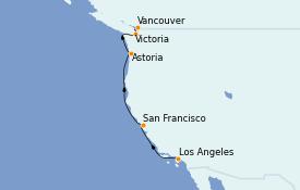 Itinerario de crucero Canadá 7 días a bordo del Sapphire Princess