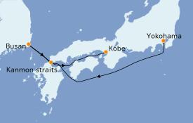 Itinéraire de la croisière Asie 5 jours à bord du Diamond Princess