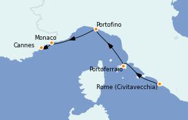 Itinéraire de la croisière Méditerranée 6 jours à bord du Star Clipper