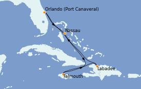 Itinéraire de la croisière Bahamas 7 jours à bord du Mariner of the Seas