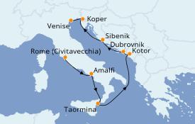 Itinéraire de la croisière Méditerranée 10 jours à bord du Azamara Quest