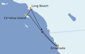 Itinéraire de la croisière Californie 5 jours à bord du Carnival Inspiration