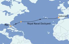 Itinéraire de la croisière Méditerranée 11 jours à bord du MS Riviera