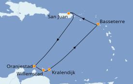 Itinéraire de la croisière Caraïbes de l'Est 8 jours à bord du Celebrity Summit