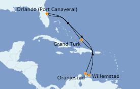 Itinéraire de la croisière Caraïbes de l'Est 9 jours à bord du Carnival Magic