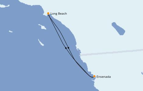 Itinéraire de la croisière Californie 3 jours à bord du Carnival Radiance