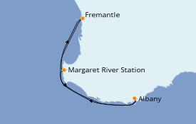 Itinéraire de la croisière Australie 2021 5 jours à bord du Sea Princess