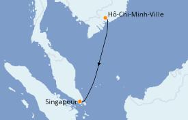 Itinéraire de la croisière Asie 3 jours à bord du Le Lapérouse