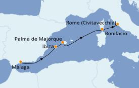 Itinéraire de la croisière Méditerranée 8 jours à bord du Royal Clipper