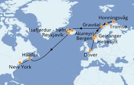 Itinéraire de la croisière Tour du Monde 2020 20 jours à bord du Sea Princess