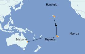 Itinéraire de la croisière Australie 2023 17 jours à bord du Quantum of the Seas