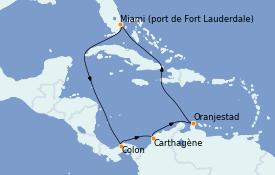 Itinéraire de la croisière Caraïbes de l'Est 10 jours à bord du Vision of the Seas