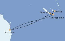 Itinerario de crucero Australia 2023 8 días a bordo del
