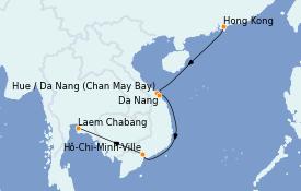 Itinéraire de la croisière Asie 12 jours à bord du Silver Muse