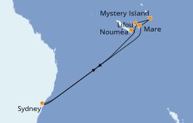 Itinéraire de la croisière Australie 2021 11 jours à bord du Carnival Splendor