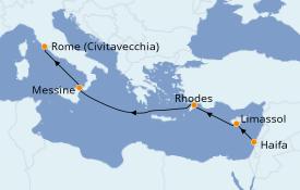 Itinéraire de la croisière Méditerranée 6 jours à bord du MSC Opera