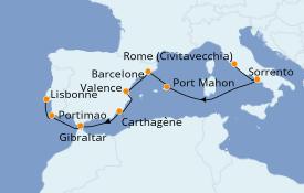 Itinéraire de la croisière Méditerranée 11 jours à bord du Azamara Pursuit