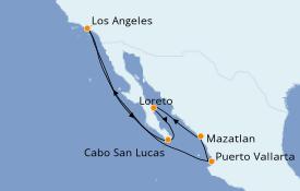 Itinéraire de la croisière Riviera Mexicaine 11 jours à bord du Majestic Princess