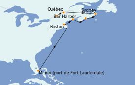 Itinéraire de la croisière Canada 10 jours à bord du ms Zaandam