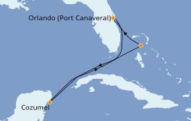 Itinéraire de la croisière Bahamas 6 jours à bord du Norwegian Escape