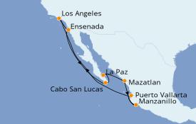 Itinéraire de la croisière Riviera Mexicaine 11 jours à bord du Seven Seas Mariner