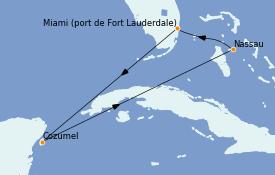 Itinerario de crucero Bahamas 6 días a bordo del Odyssey of the Seas