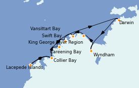 Itinéraire de la croisière Australie 2021 13 jours à bord du Le Soléal