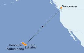 Itinéraire de la croisière Hawaii 12 jours à bord du Celebrity Solstice