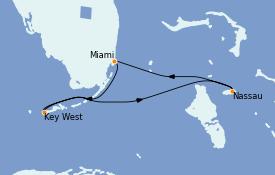 Itinéraire de la croisière Bahamas 5 jours à bord du Celebrity Silhouette