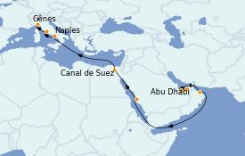 Itinerario de crucero Trasatlántico y Grande Viaje 2023 17 días a bordo del MSC World Europa