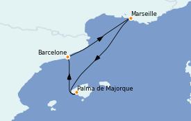 Itinéraire de la croisière Méditerranée 5 jours à bord du Adventure of the Seas