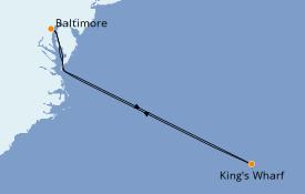 Itinéraire de la croisière Bahamas 6 jours à bord du Grandeur of the Seas