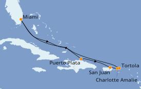 Itinéraire de la croisière Caraïbes de l'Est 9 jours à bord du Empress of the Seas