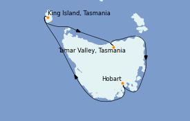 Itinerario de crucero Australia 2021 11 días a bordo del Le Lapérouse