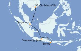 Itinerario de crucero Asia 15 días a bordo del Le Lapérouse