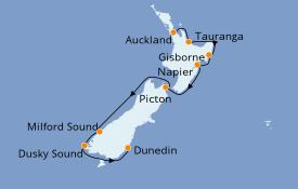 Itinéraire de la croisière Australie 2020 11 jours à bord du Silver Explorer
