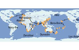 Itinéraire de la croisière Australie 2022 181 jours à bord du MS Insignia