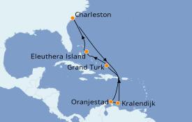 Itinéraire de la croisière Caraïbes de l'Est 11 jours à bord du Carnival Sunshine