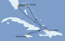 Itinéraire de la croisière Bahamas 7 jours à bord du Symphony of the Seas