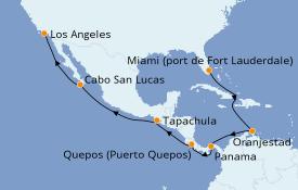 Itinéraire de la croisière Tour du Monde 2020 16 jours à bord du Pacific Princess